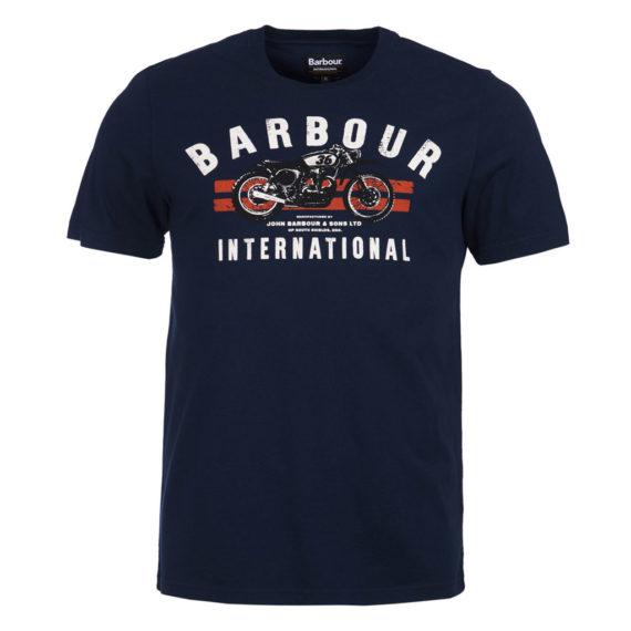 Barbour International - Bike Stripes Tee - Navy