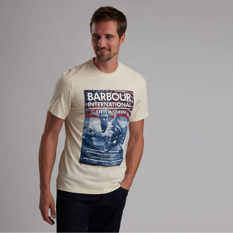 Barbour International - Steve McQueen Hero Tee - Chalk
