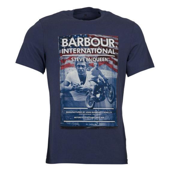 Barbour International - Steve McQueen Hero Tee - Washed Indigo