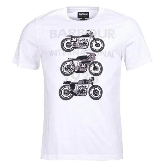 Barbour International - Tri Bike Tee - White