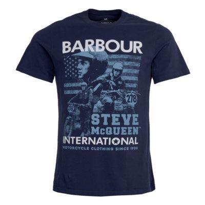 Barbour International - Steve McQueen Collage Tee - Navy