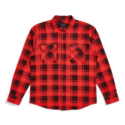 Brixton - Bowery Flannel Shirt - Red/Black