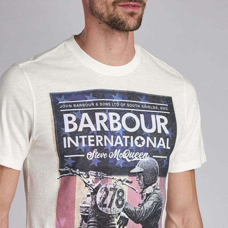 Barbour International - Steve McQueen Fixer Tee - Whisper White