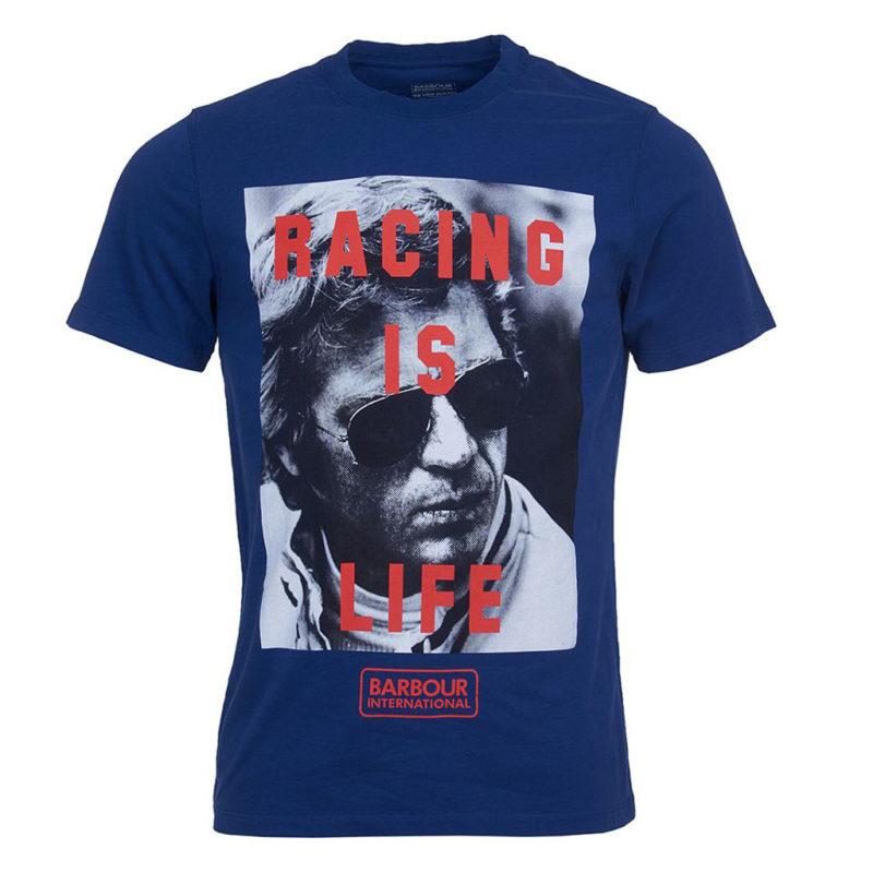 Barbour International - Steve McQueen Life Tee - Inky Blue