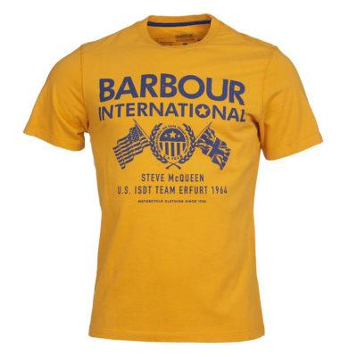 Barbour International - Steve McQueen Race Flags Tee - Desert Orange