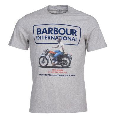 Barbour International - Steve McQueen Relaxed Tee - Grey Marl