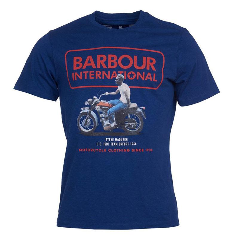Barbour International - Steve McQueen Relaxed Tee - Inky Blue