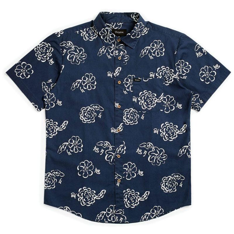 Brixton - Charter Woven Shirt - Navy/Off White