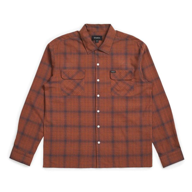 Brixton - Franco Plaid Shirt - Brown/Navy