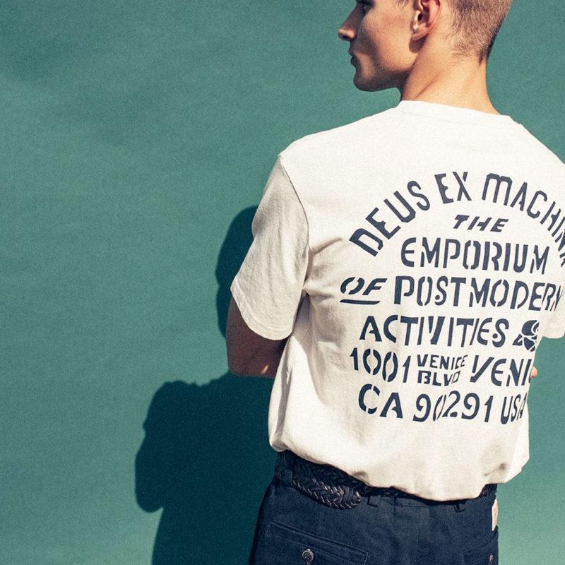 Deus Ex Machina - YJ Venice Tee - White Chalk