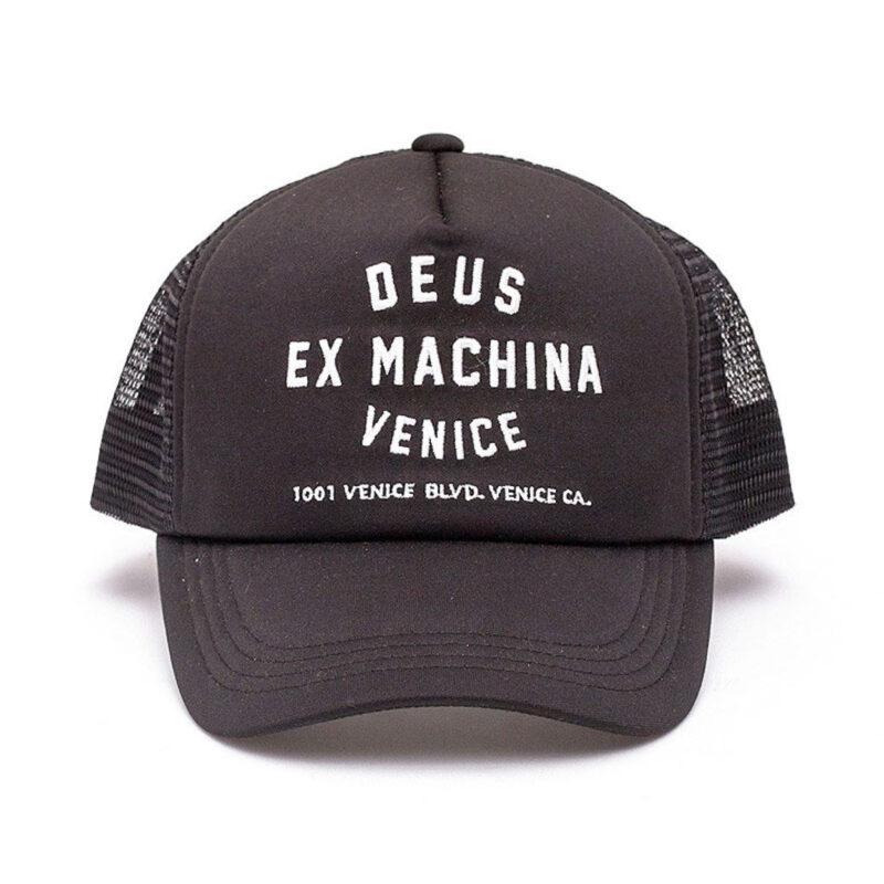 Deus Ex Machina - Venice Address Trucker - Black
