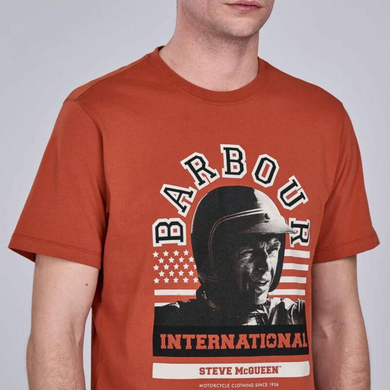 Barbour International - Jake Tee - Brick Red