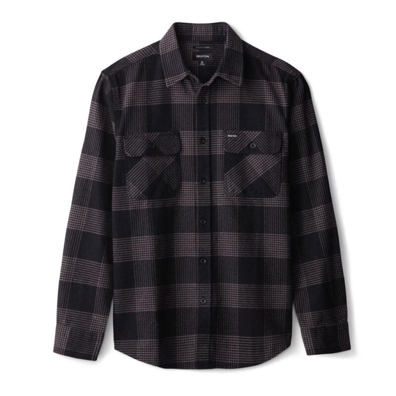 Brixton - Bowery Flannel Shirt - Black/Steel