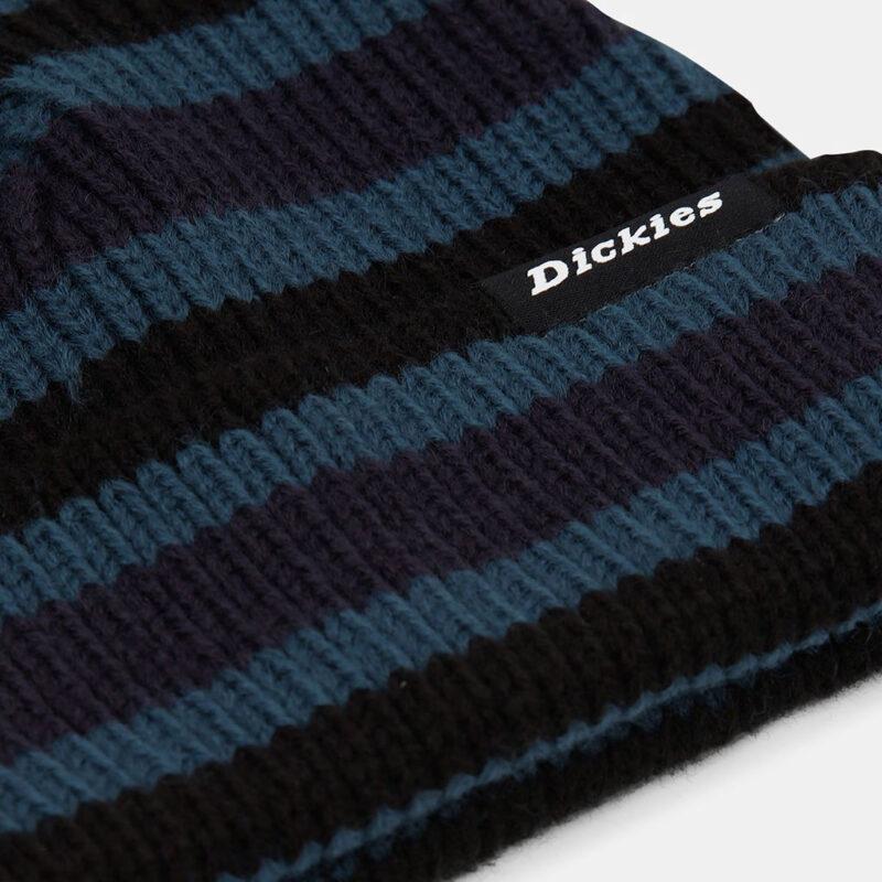 Dickies - Mer Rouge Striped Beanie - Coral Blue