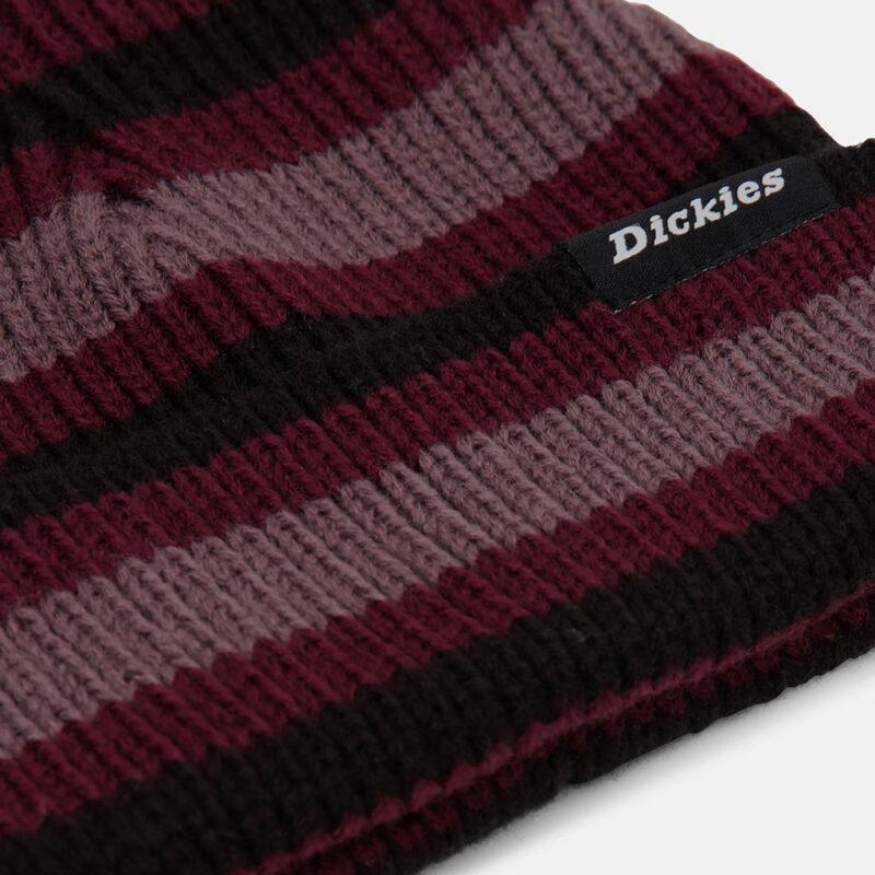 Dickies - Mer Rouge Striped Beanie - Maroon