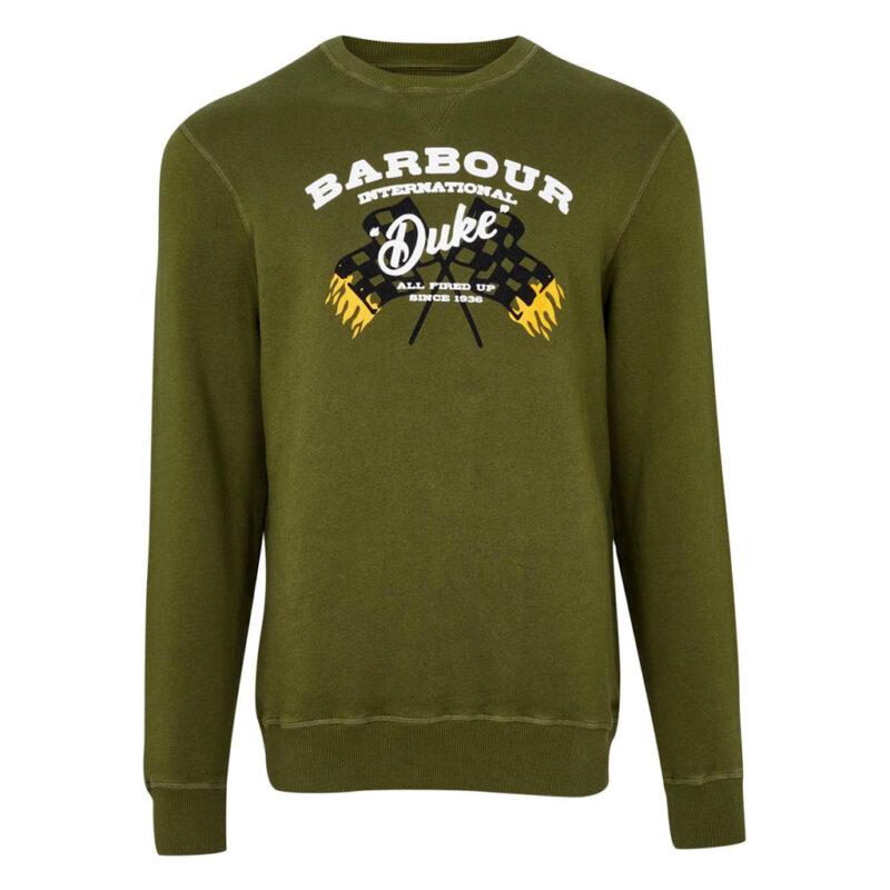Barbour International - Famous Duke Sweatshirt - Vintage Green