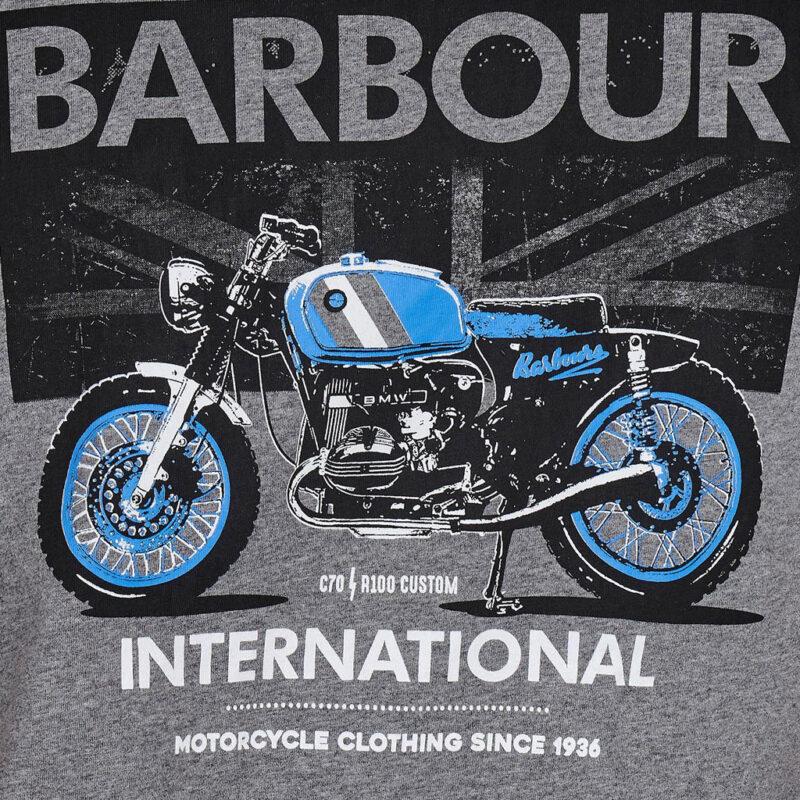 Barbour International - Greenwood Tee - Anthracite Marl