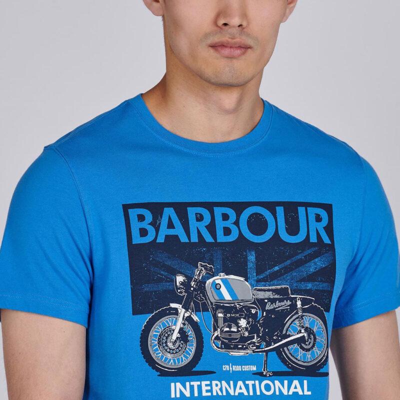 Barbour International - Greenwood Tee - Pure Blue