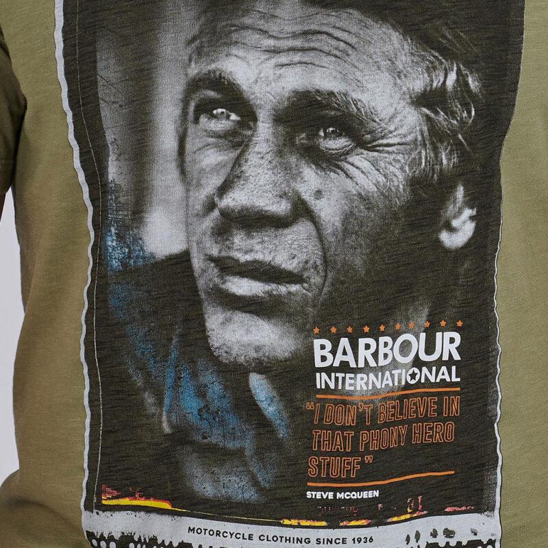 Barbour International - Hero Tee - Light Moss