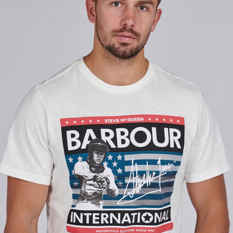 Barbour International - Time Tee - Whisper White