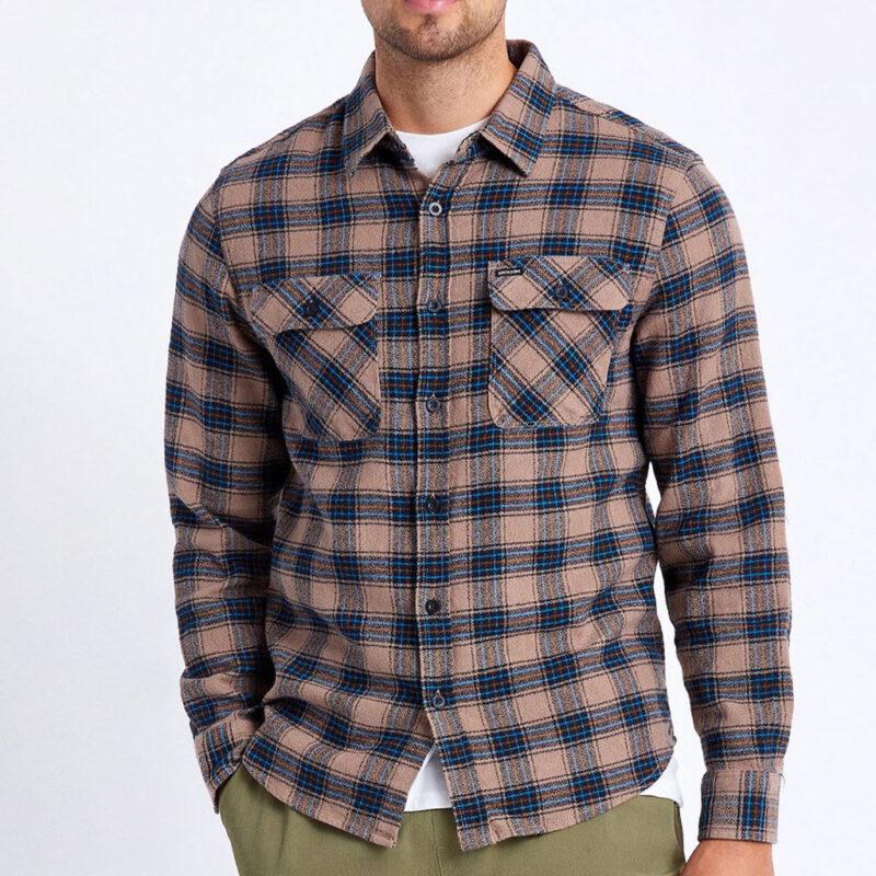 Brixton - Bowery Shirt - Pine Bark