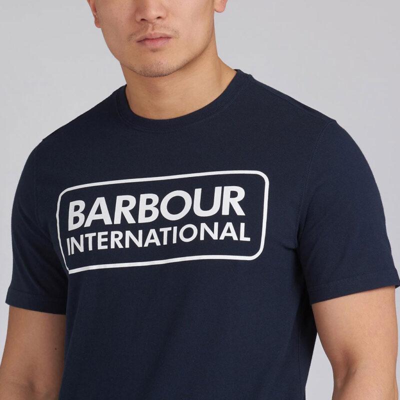 Barbour International - Large Logo Tee - International Navy