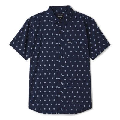 Brixton - Charter Print Shirt - Navy/Blue Fog