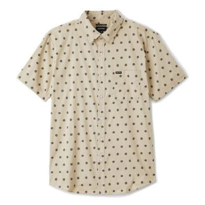 Brixton - Charter Print Shirt - Off White/Charcoal
