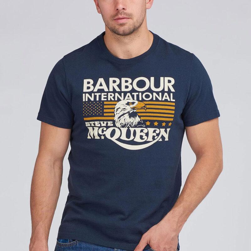 Barbour International - Eagle Tee - Navy