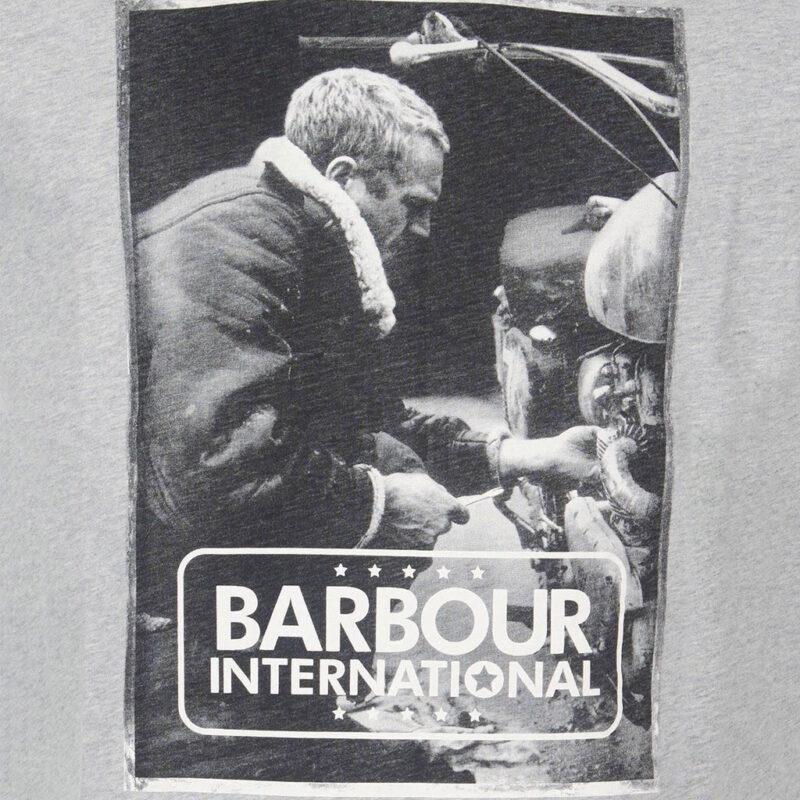 Barbour International - Mechanic Tee - Grey Marl