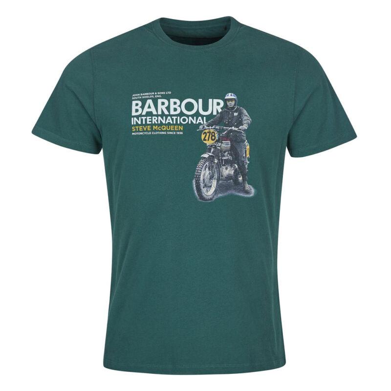 Barbour International - Side Tee- Deep Green