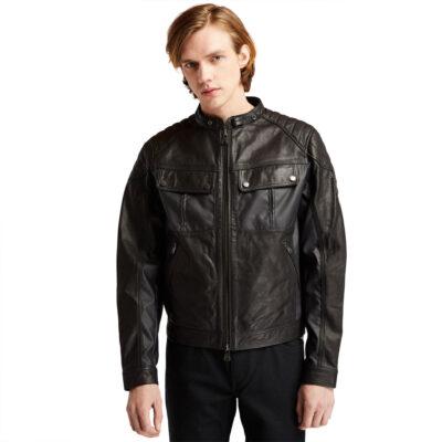 Timberland - Moto Guzzi MG Leather Jacket - Black