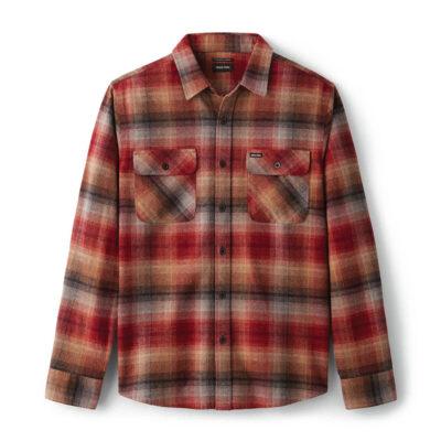 Brixton - Bowery Flannel Shirt - Dark Brick