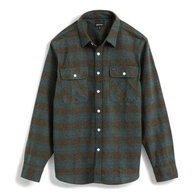 Brixton - Bowery Flannel Shirt - Ocean