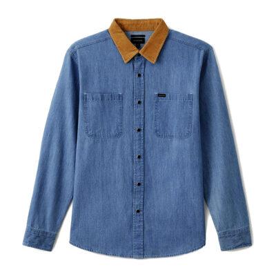 Brixton - Bowery Reserve Woven Shirt - Washed Denim
